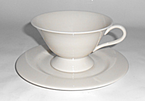 Franciscan China Encino Breakfast White Cup/saucer Set