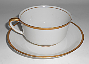 Syracuse China Gold Band Cup/saucer Set Mint
