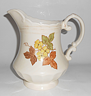 Metlox Pottery Vernon Autumn Leaves 2-Qt Pitcher! MINT (Image1)