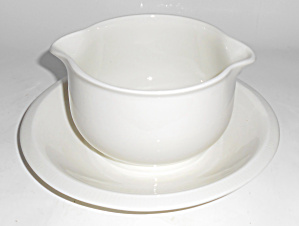 Franciscan Pottery Sculptures Primary White Gravy Bowl