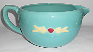 Coors Pottery Rosebud LARGE Green Handled Batter Bowl! (Image1)