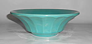 Bauer Pottery Hi-fire Jade Ribbed Art Bowl