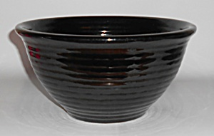 Bauer Pottery Plain Ware Black #12 Mixing Bowl! (Image1)