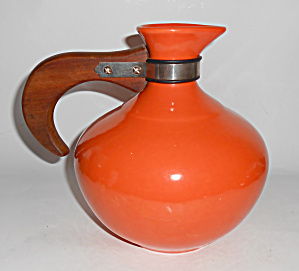 Metlox Pottery Poppy Trail Series 200 Orange Carafe!  (Image1)