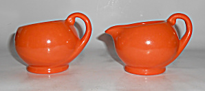 Metlox Pottery Poppy Trail Series 200 Orange Creamer/Su (Image1)