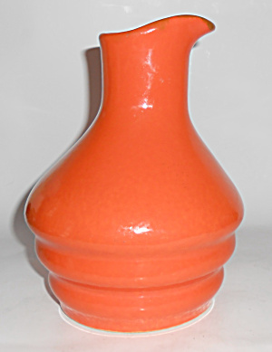 Metlox Pottery Poppy Trail Series 200 Orange Ribbed Jug (Image1)