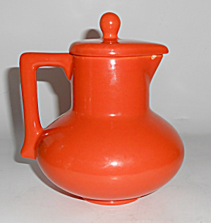 Franciscan Pottery El Patio Flame Orange Syrup Pitcher