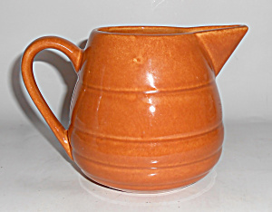 Bauer Pottery Gloss Pastel Kitchenware Lt Brown Pitcher