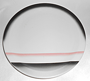 Wallace China Red/black Airbrush Decorated 7in Plate