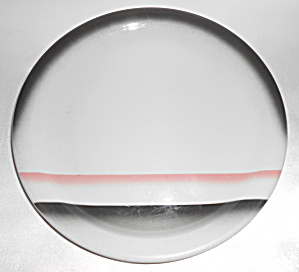 Wallace China Red/black Airbrush Decorated Dinner Plate