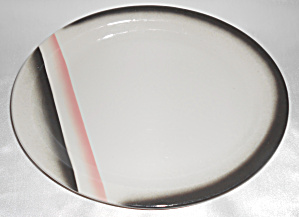 Wallace China Red/black Airbrush Decorated Platter Mint