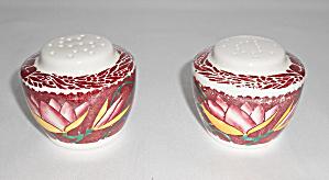 Vernon Kilns Pottery Lei Lani Salt/Pepper Shaker Set! (Image1)