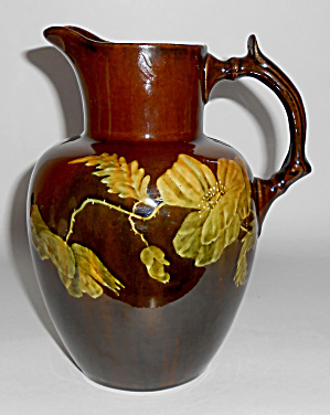 Stockton Art Pottery Floral Decorated Pitcher! RARE (Image1)