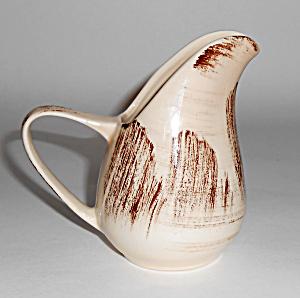 Vernon Kilns Pottery Barkwood Rare 1/4 Pint Pitcher! (Image1)