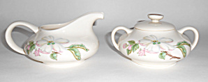 Franciscan Pottery Fine China Appleton Creamer/sugar