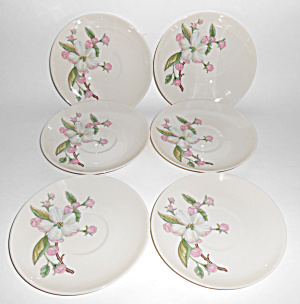Franciscan Pottery Fine China Chelan Set/6 Saucers Mint