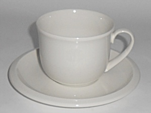 Franciscan Pottery Sculptures White Primary Cup/Saucer (Image1)