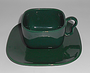 Franciscan Pottery Tiempo Leaf Green Cup/saucer Mint