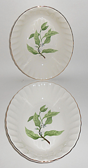 W. S. George Pottery China B8760 Floral Pair Veg Bowls  (Image1)