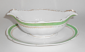 Austria Imperial Crown China Gravy W/Underplate! (Image1)