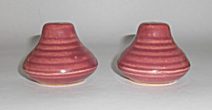 Bauer Pottery Ring Ware Early Burgundy Salt/pepper Set