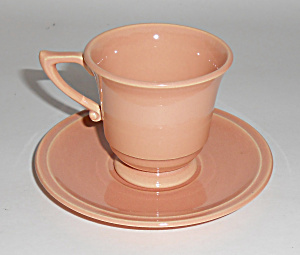 Franciscan Pottery Montecito Gl Coral Demi Cup/saucer