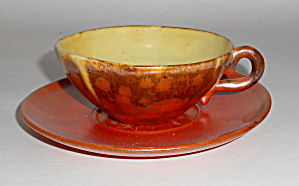 Hull Pottery New Mexico Wheel Thrown Uranium Red Cup/sa