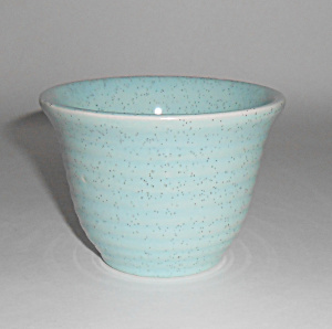 Bauer Pottery Ring Ware Blue Speckle Custard Cup