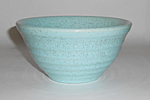 Bauer Pottery Ring Ware Blue Speckle #30 Mixing Bowl!  (Image1)