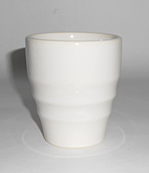 Franciscan Pottery El Patio Gloss White Banded Tumbler