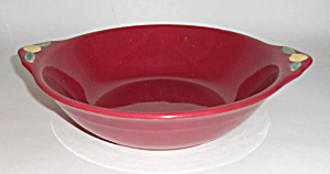 Coors Pottery Rosebud Red Vegetable Bowl! (Image1)