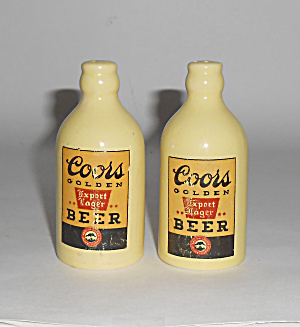 Coors Pottery Stubby Salt/pepper Shaker Set