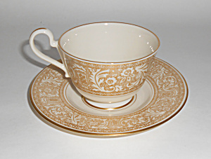 Franciscan Pottery Gold Renaissance China Cup/saucer
