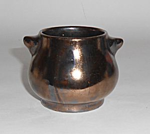 Rosemeade Pottery Black Metallic Demi Sugar Bowl Mint