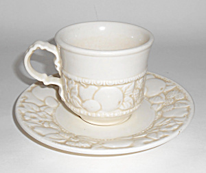 Metlox Pottery Poppy Trail Vernon Antiqua Cup/saucer
