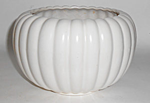 Bauer Pottery Tracy Irwin Satin White Pumpkin Bowl