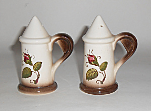 Metlox Pottery Poppy Trail Provincial Rose Salt/Pepper  (Image1)