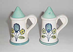 Metlox Pottery Poppy Trail Blueberry Salt/Pepper Set!  (Image1)