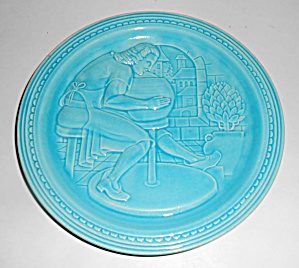 Hlc 1939 New York World's Fair Potter At Wheel Plate