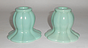 Franciscan Catalina Pottery Avalon #c-314 Candlesticks