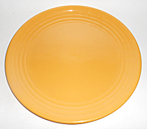 Bauer Pottery Ring Ware Yellow Chop Plate Mint