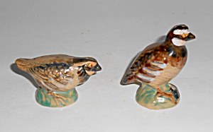Rosemeade Pottery Quail Salt/pepper Shaker Set Mint