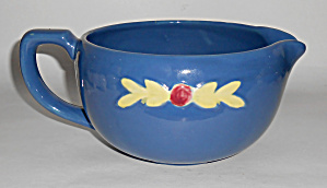 Coors Pottery Rosebud Blue Medium Handled Batter Bowl