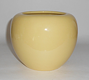 Bauer Pottery Fred Johnson Yellow Art Vase