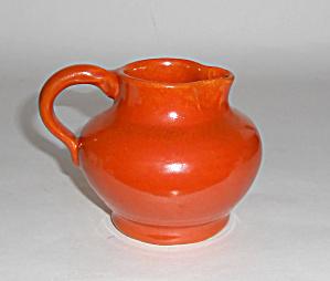 Bauer Pottery Matt Carlton Plain Ware Orange Demi Cream (Image1)