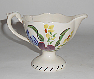 Blue Ridge Pottery Easter Parade Footed Creamer Mint