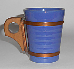 Bauer Pottery Ring Ware Cobalt Tumbler W/handle Mint