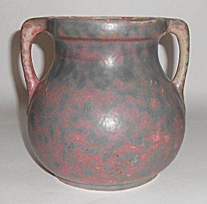 Burley Winter Art Pottery Green / Purple 2-handle Vase