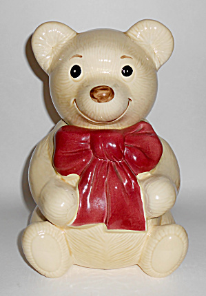Metlox Pottery Poppy Trail Teddy Beau Bear Cookie Jar!  (Image1)