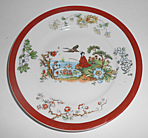 C. Tielsch Germany China Oriental Woman Scenic Plate